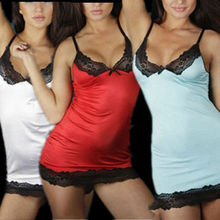 Сексуальные Женщины Леди Пижамы Кружева Платье Нижнее Белье Ночное Белье Стринги LH