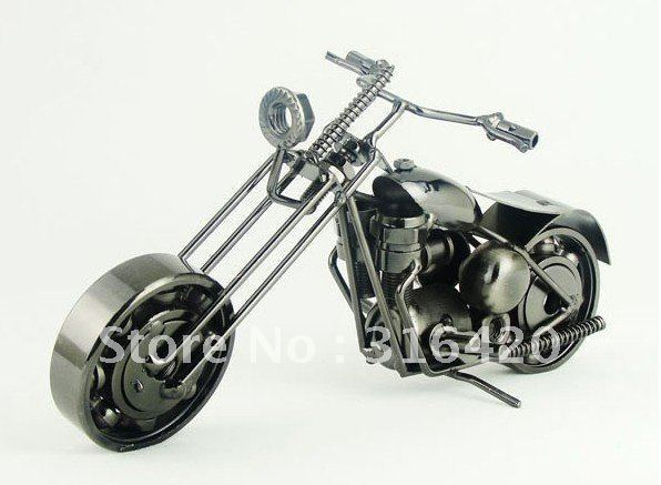 Metal iron handicraft round turn head motorcycle swinging simulation personality innovation send boyfriend husband