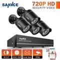 Sistema de CCTV 4CH 720 P DVR 1280TVL SANNCE IR À Prova de Intempéries Ao Ar Livre Kits de Câmera de CCTV Sistema de Vigilância de Vídeo de Segurança Em Casa