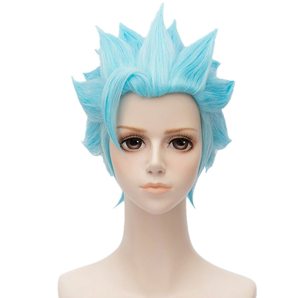 Seven Deadly Sins Fox's Sin of Greed Ban Headwear Japanese Anime Cosplay Hair Accessories Sky Blue Costume Hairs Props