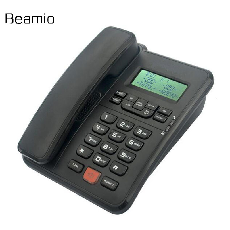 spain version fsk dtmf caller id corder handfree telephone fixe landline phone for home office. Black Bedroom Furniture Sets. Home Design Ideas