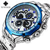 The New WWOOR Luxury Brand Men S Watches Stainless Steel Strap Sports Waterproof Watch Relogio Male