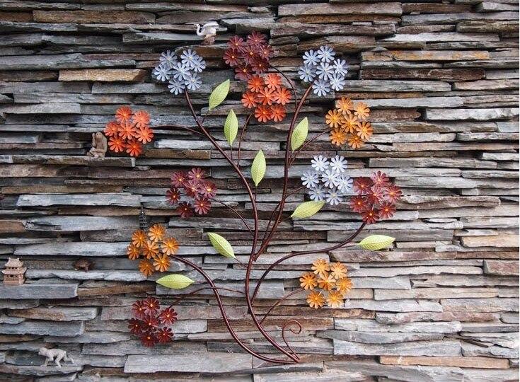 Modern Home Decoration Creative 3D Metal Wall Art Hand made ...