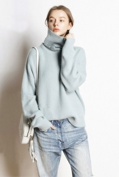 Hot Sale 5Colors Women Pullover and Sweater 100% Cashmere Knitted Jumpers Winter New Fashion Thick Warm Female Clothes Girl Tops 3