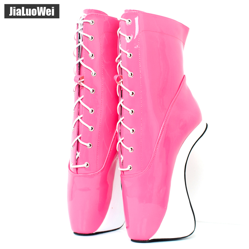 Women Ankle Boots Super High Heels 2018 Fashion Ballet Red Shoes Woman Party Cross-tied Boots Ladies Shoes Female Botas Feminina