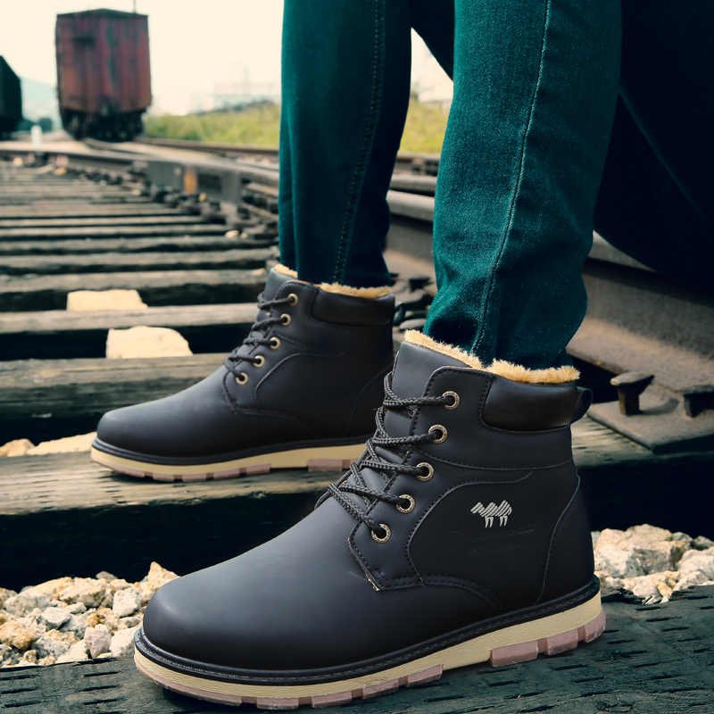 8f5b94afcb5 Detail Feedback Questions about Boots Men Autumn and Winter Faux ...