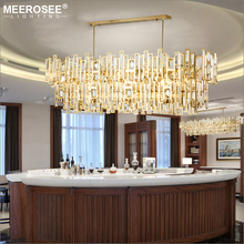 Modern LED Crystal Pendant Lights North Europe Style Hanging Lamp for Dining room Rectangle Lighting