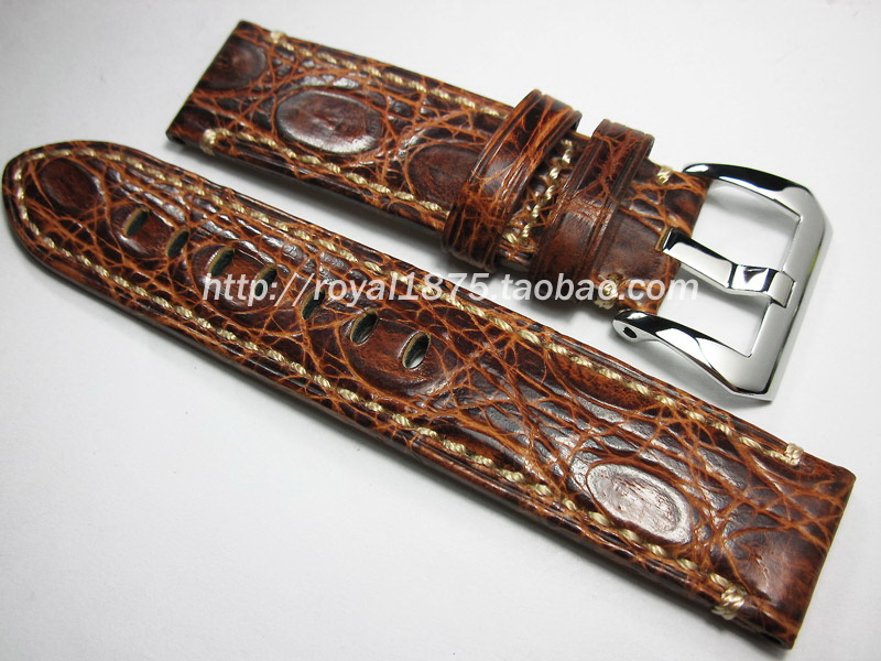 2018 The New luxury Genuine Crocodile Leather Watchband 20mm 22mm Watch Strap Band for Longines Omega