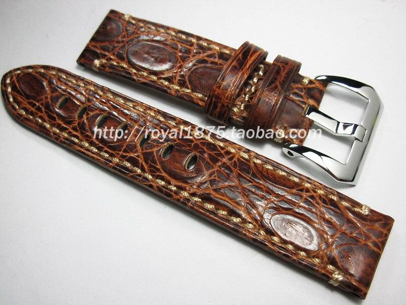 2018 le nouveau bracelet de montre de luxe en cuir de Crocodile véritable 20mm 22mm bracelet de montre pour Longines Omega pour montre de marque + outils