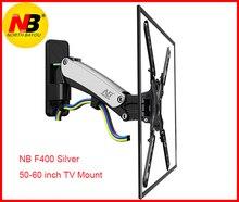 """Soporte de Gas NB F400 50 """" 60"""" LED LCD montaje en pared de TV soporte de Monitor de movimiento completo carga de brazo: 31 50lbs (14 23kgs) plateado y negro"""
