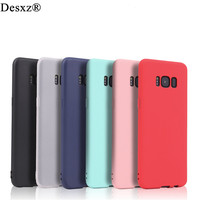 Desxz Soft Silicone Candy Color TPU Phone Case for Samsung Galaxy S8 S8 Plus Silicone Soft Back cover cases for galaxys8 s8plus
