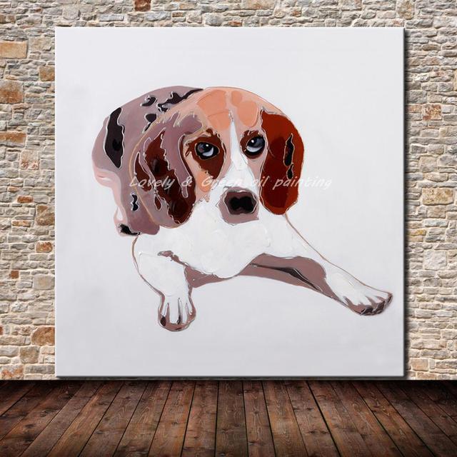 Tangan Dicat Warna Warni Kartun Hewan Lucu Lucu Anjing Dinding