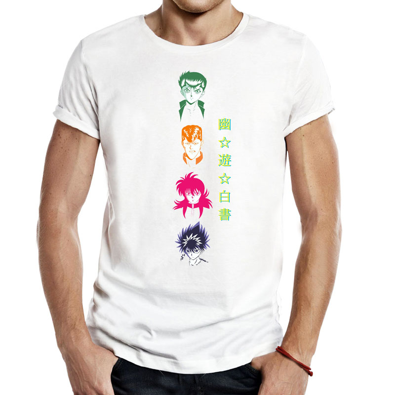 T-shirts Men's Clothing Fast Deliver Yu Yu Hakusho Cartoons Anime Comics Men Unisex Tees T-shirts Casual Classic Cool Fashion Ghost Detective Yusuke Kuwabara Tops Good For Antipyretic And Throat Soother