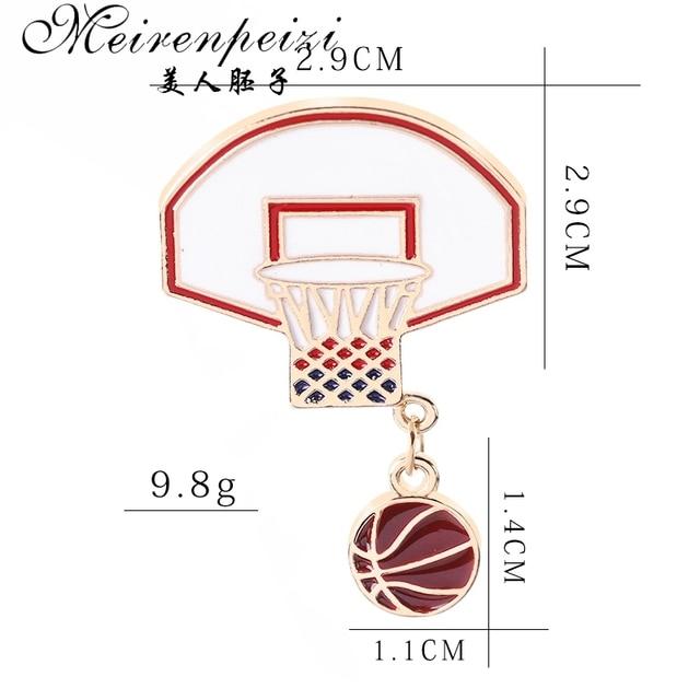 Купить meirenpeizi булавки и броши для баскетбола влюбленных болельщиков