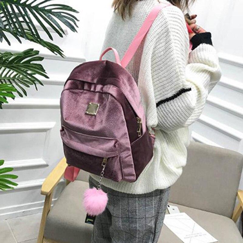 ABDB-Velour Bag Women School Bags Velvet Lady Casual Pretty Cute Bag Travel BagABDB-Velour Bag Women School Bags Velvet Lady Casual Pretty Cute Bag Travel Bag