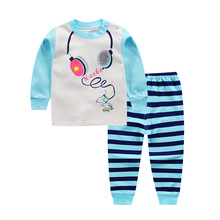 2pcs/set Cotton Long Sleeve Newborn Baby Boy