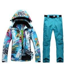 2019 neue Ski anzug frauen Anzug Winter Outdoor Single Board, doppel ski jacke + ski hosen Wasserdicht Gute Qualität Freies Verschiffen