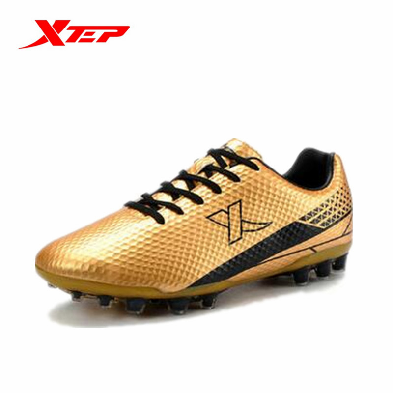 Xtep Men's Spring Autumn Sport Lightweight Damping Soccer Shoes Male Wear-Resistance Lace-Up Sneakers 984219189157B2G80