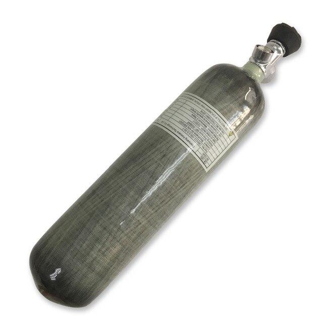 AC10331 3L 4500PSI خزان من ألياف الكربون اسطوانة لاطلاق النار مسدس هواء الصيد/الألوان/PCP الهواء بندقية مع صمام الرماية