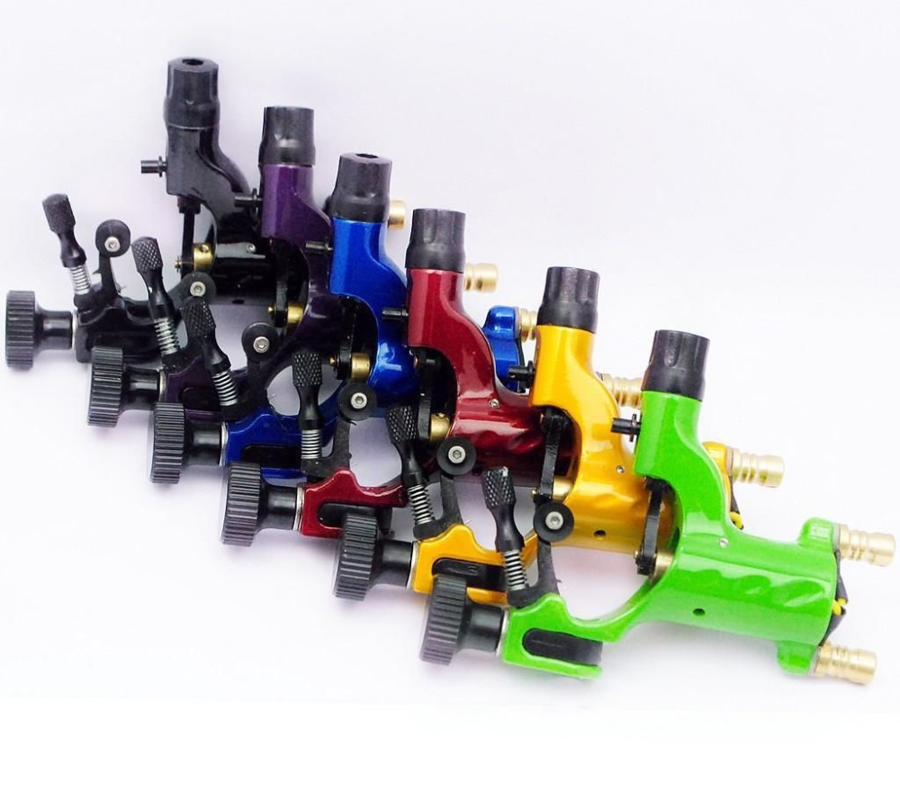 Pro 6pcs Mixed Red Yellow Green Dragonfly Rotary Motor Tattoo Machine For Liner Shader bask vinson pro v2