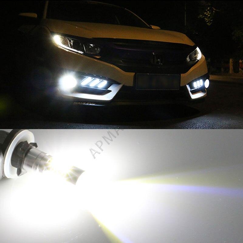 Pack of 2 880 899 10SMD High Power Fog Driving DRL LED Light Bulb Lamp Bright White
