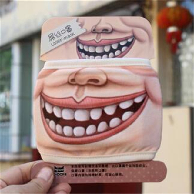 1Pc Villain Joke Masks Funny Expression Pig Lower Half Face Cotton Face Mask Festive Christmas Masquerade Party Cosplay Supplies 3