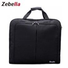 Zebella imperméable à leau noir fermeture éclair sac de vêtement costume sac Durable hommes voyage daffaires sac de voyage pour costume étui à vêtements grand organisateur