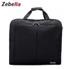 Zebella עמיד למים שחור רוכסן בגד תיק חליפת שקית עמיד גברים עסקים טיול נסיעות תיק עבור חליפת בגדים מקרה גדול ארגונית