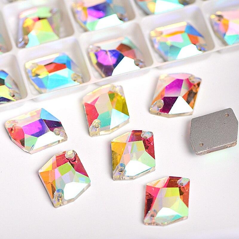 Many Sizes Crystal Cosmic Shape Sew On Rhinestones Cosmic Sewing Stones Glass Sew On Rhinestones Wedding Decoration Y1052