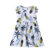 Summer Toddler Girl Tropical Pineapple Sundress Beachwear