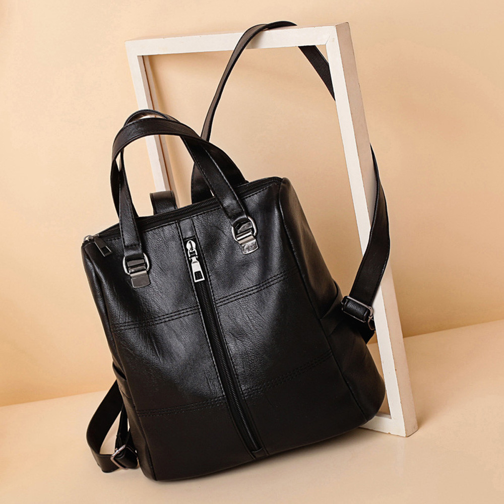 Fashion Vintage Girl Leather Satchels Solid Bag School Bag Backpack Satchel Women Travel Shoulder Bag Backpack Leather GHFashion Vintage Girl Leather Satchels Solid Bag School Bag Backpack Satchel Women Travel Shoulder Bag Backpack Leather GH