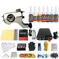 Solong Татуировки Новый Начинающий 1 Pro Machine Gun Татуировки Kit Питания Иглы Ручки совет 7 цветов набор чернил TK105-38