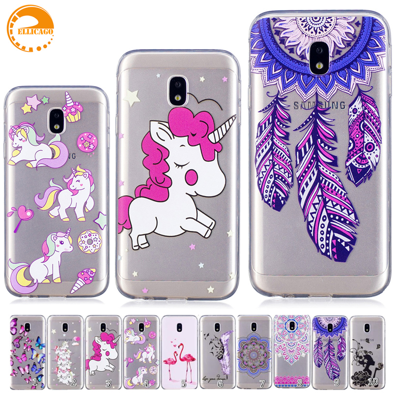 ellicago for coque samsung galaxy j7 2017 case j730 unicorn pattern phone case for samsung. Black Bedroom Furniture Sets. Home Design Ideas
