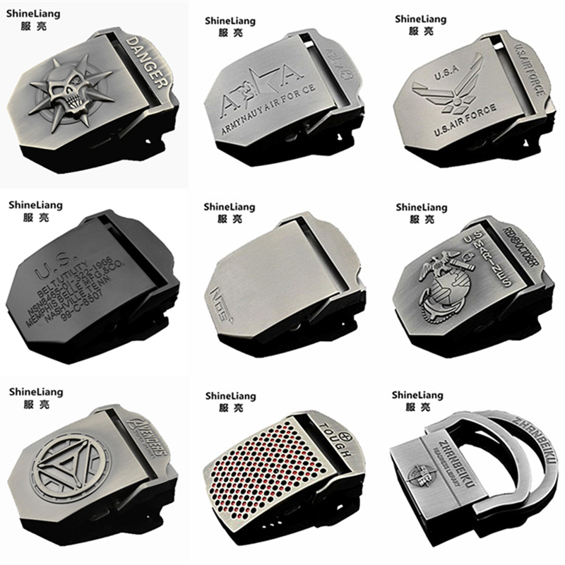 Men's Tactical Belt Buckle Alloy Material Application Of Military Canvas Body Width 3.8CM High Quality Designers Brand Youth