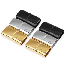 European Hot Design Bracelet Buckle Leather Clasp Metal Magnetic Rectangle Jewelry Clasps