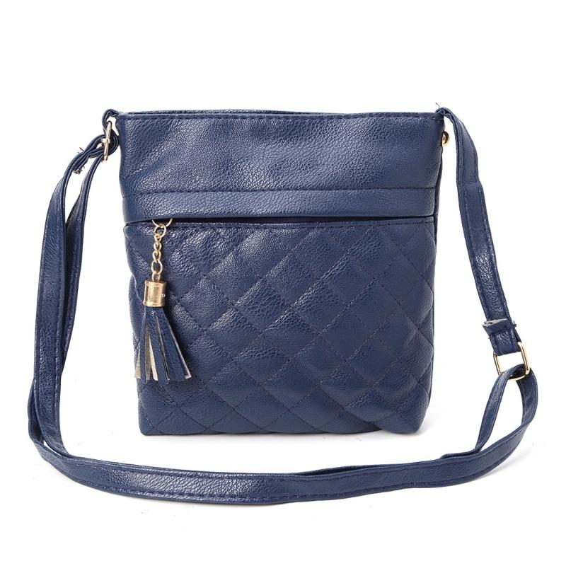 THINKTHENDO Fashion Women Leather Shoulder Bag Lady Girl Tassel Messenger Cross Body Bag Purse 4 Colors Shoulder Bags Solid Soft
