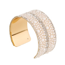 simulated pearl bangles open cuff boho bracelets for women charms bracelet pulseira feminina love bracelet indian jewelry