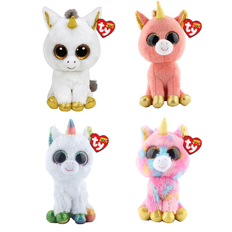 Ty Beanie Boos Unicorn Plush Animal Toy Doll With Tag 6 15cm