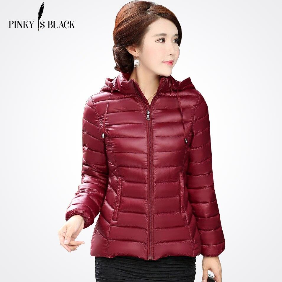 Pinky Is Black 2017 autumn winter jacket women cotton-padded jacket   parka   short slim hooded jacket women winter coat outerwear
