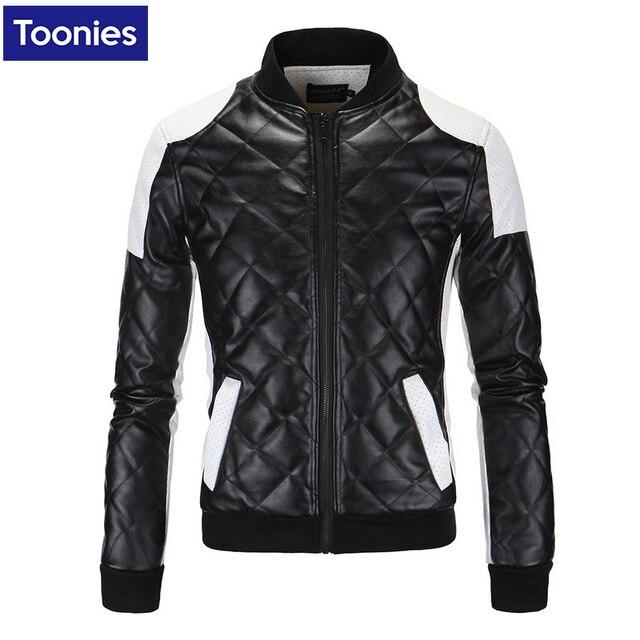 Leather Jacket Nen Coat New Fashion 2017 Winter Warm Coats Zipper Mens Winter Leather Jackets Brand Clothing Plush Size M-5XL