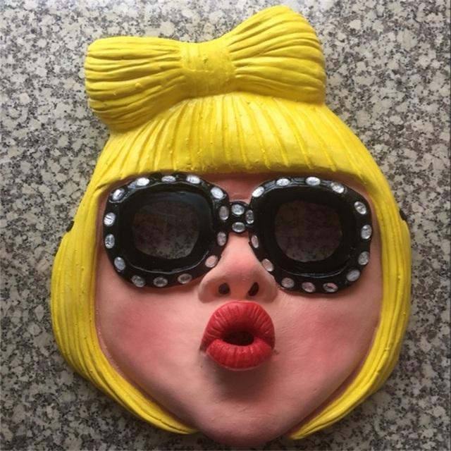 Lady Gaga Latex Rubber Mask
