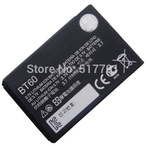 ALLCCX high quality mobile phone battery BT60 for Motorola ME511 ME502 Q8 V360 V361i V980 C975 E1000 A732 C168 C168i V191