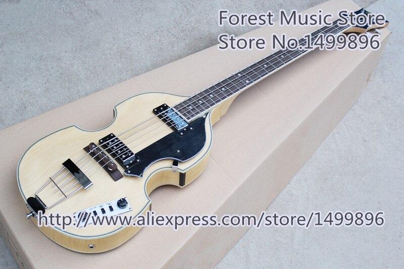 Vente chaude chinois 4 cordes bois naturel finition BB2 électrique basse guitares gaucher personnalisé disponible