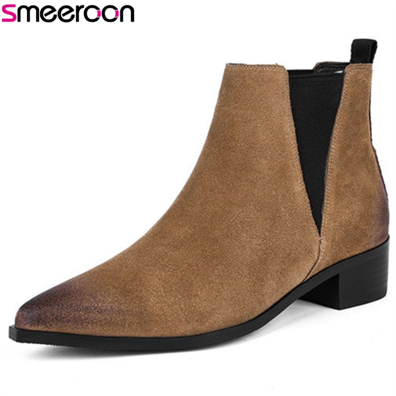 Tacchi Slip Punta Pelle Smeeroon Mucca On Scamosciata brown A Alla RXPH4