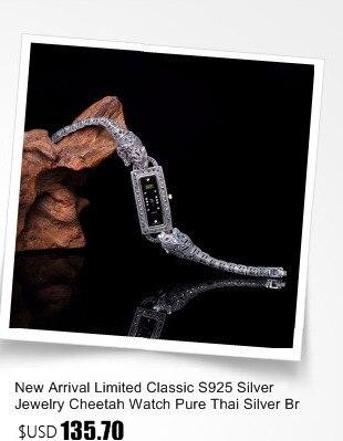Qualidade superior feminino real prata relógio de
