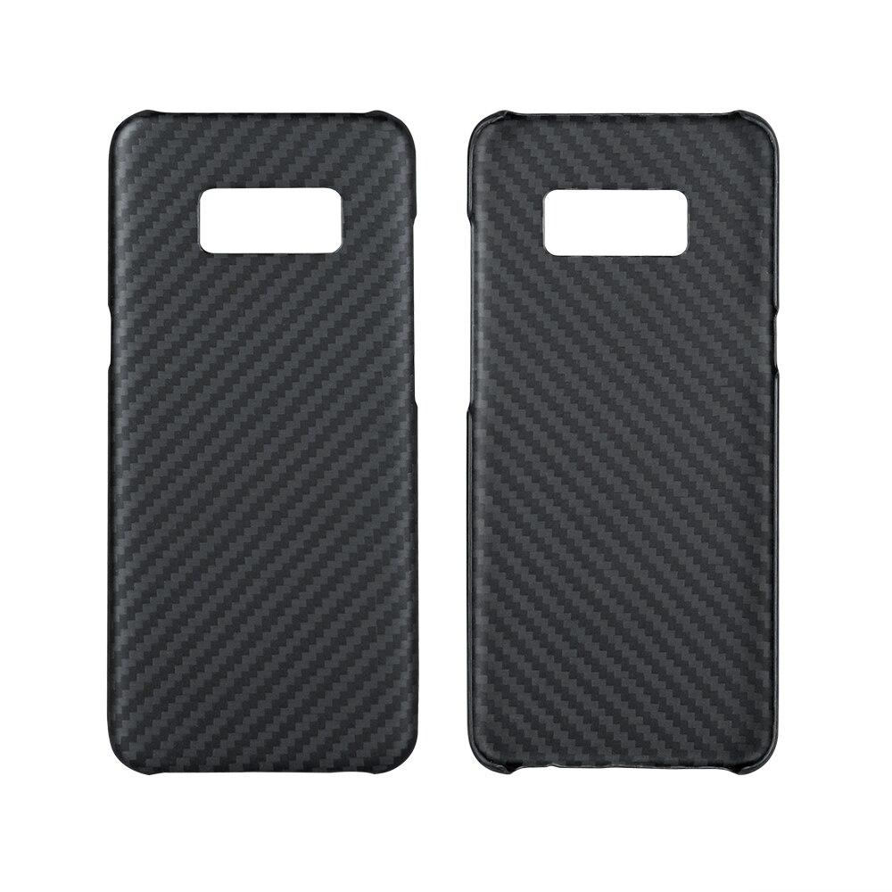 Étui de luxe Ultra mince noir pour Samsung Galaxy S8 S8 Plus étui en Fiber d'aramide étui pour Samsung S8 S8 Plus S8Edge