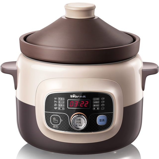 220V Multifunctional Automatic Electric Cooking Stewing Pot Redware Stewing Saucepot Stewpot Electric Casserole Cooker