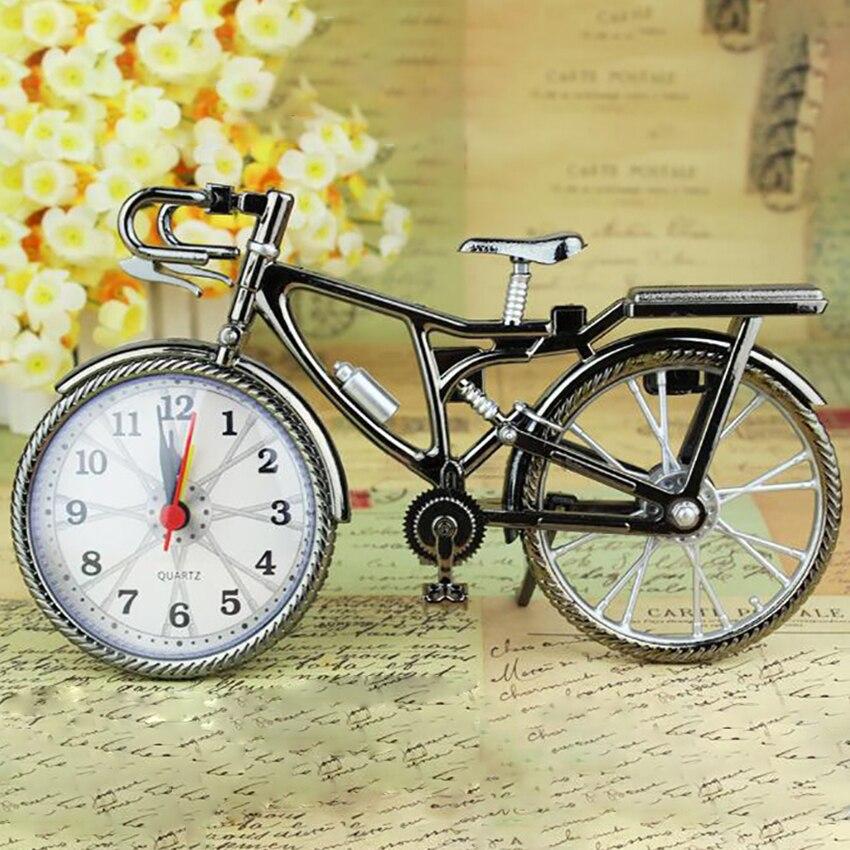Fashion Bike Shape Alarm Clock Wujin Bicycle Alarm Clock Home Desktop Vintage Art Decoration Clock Best Gift For Children Newest
