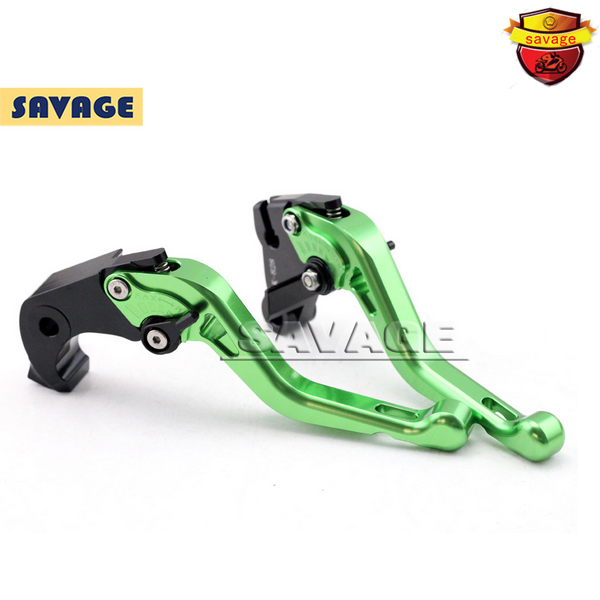Motorcycle CNC Billet Aluminum Short Brake Clutch Levers For KAWASAKI ZX6R ZX636 2007-2013, ZX10R NINJA 2006-2015 Green motorcycle new cnc billet short folding brake clutch levers for bimota db 5 s r 1100 2006 11 07 09 10 db 7 1100 db 8 1200 08 11