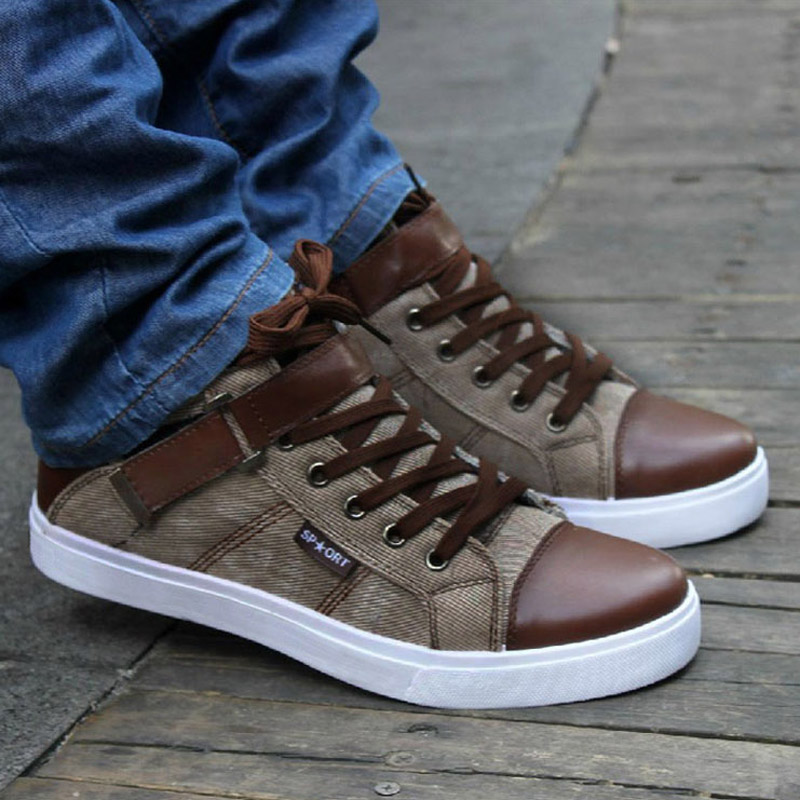 35a325ba4e5c Hot 2019 Spring Autumn Korean Men s High-Top Shoes Students Zip Letters  Casual Canvas Shoes Mens Wild Fashion Trendy Ankle BootsUSD 22.87-25.99 pair